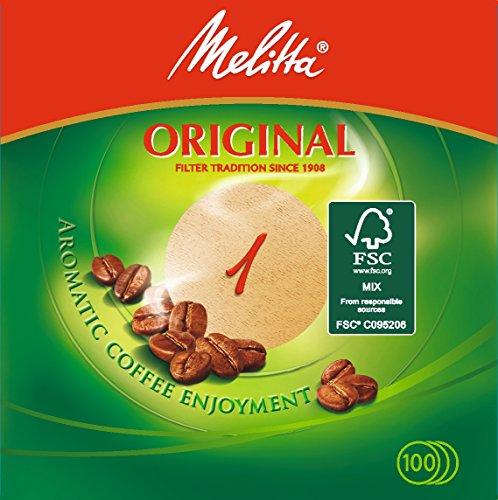 Filtre rond brun Melitta lot de 10 boites.