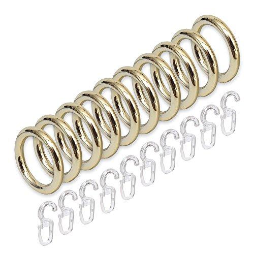 Liedeco 28mm 10Vorhang Ringe, Messing