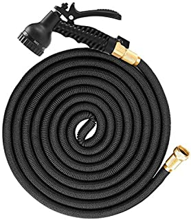 SGODDE 50ft Expandable Garden Hose, Expandable Water Hose with 8 Function Spray Nozzle, 3/4