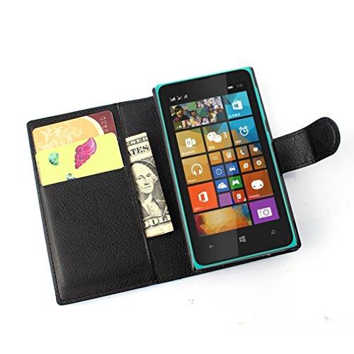 Microsoft lumia 435 Hülle,Microsoft lumia 435 Lederhülle,NEKOYA Handyhülle im Brieftasche-Stil für Microsoft lumia 435.Schutzhülle mit [TPU Innenschale] [Standfunktion] [Kartenfach] [Magnetverschluss]