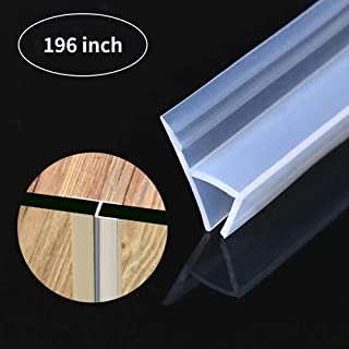 Glass Shower Door Seal Strip,196 inch Frameless Shower Door Bottom Seal to Stop Shower Leaks,Flexible Weatherproof Silicone Seal Strip for 3/8