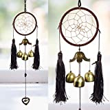 Reiki Crystal Products Hanging Dream Catcher with Wind Chimes Home Positive Energy Windchimes...