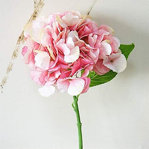 Kunstmatige & Gedroogde bloemen Kunstmatige Pioenbloem Huwelijkfeest Birthday Party NewYear valentinesday Floral Decor Zijden Hortensia Vaas Bloemstuk 1PC (Color : Red)