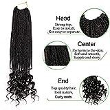 7 Packs 18 Inch Box Braids Crochet Hair Crochet Box Braids with Curly...