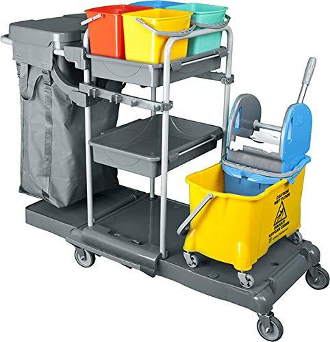 BELLANET - Carrito de limpieza y limpieza profesional con carro flexible y...