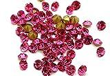 Eimass® folienbeschichtete, geschnittene Diamant-Kristallchatons, Glas-Kristalle, Glas-Strass, 100Stück, - Rose Hot Pink - Größe: 8.4 mm