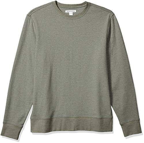 Amazon Essentials Long-Sleeve Lightweight French Terry Crewneck Sweatshirt Sudadera, Gris Oliva, 48-50