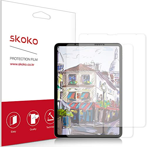 skoko [2 Pack] Paper-like Screen Protector Compatible with iPad Pro 11 3th Gen 2018, Paper Texture, Preamiun PET, for Writing/Draw, Compatible with Apple Pencil