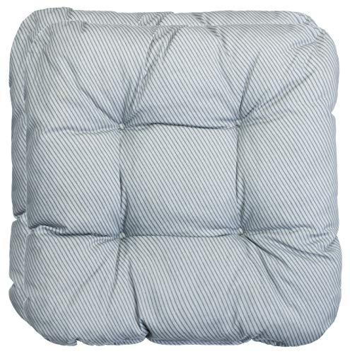 Brandsseller Set di 2 cuscini per sedia, a strisce, grigio