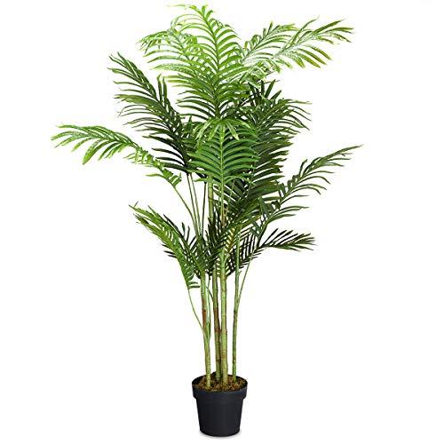 COSTWAY Zimmerpalme Palme Kunstpflanze Kunstbaum Zimmerpflanze Dekopflanze künstlich Größewahl (150cm hoch)