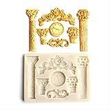 Generies Roma Orologio A Colonna Stampo in Silicone Fondente per Dolci Stampo per Zucchero Stampo per Cioccolato Stampo per Dolci Strumento per Decorazione