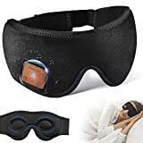 Sleep Headphones, Eye Mask for Sleeping, 3D Contoured Cup Sleep Mask, Wireless Bluetooth 5.0 Music Sleeping Mask with Built in Ultra-Thin Speakers Microphone, for Side Sleepers, Insomnia, Travel