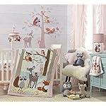 Lambs-Ivy-Little-Woodland-Forest-Animals-4-Piece-Crib-Bedding-Set-PinkWhite