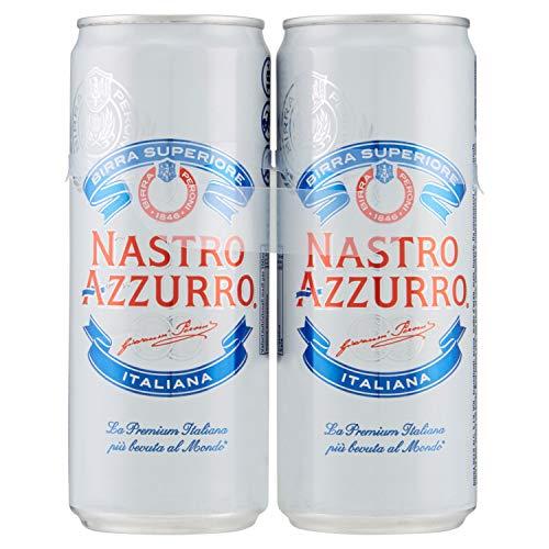 Birra Nastro Azzurro 330 ml (Pacco Da 2)
