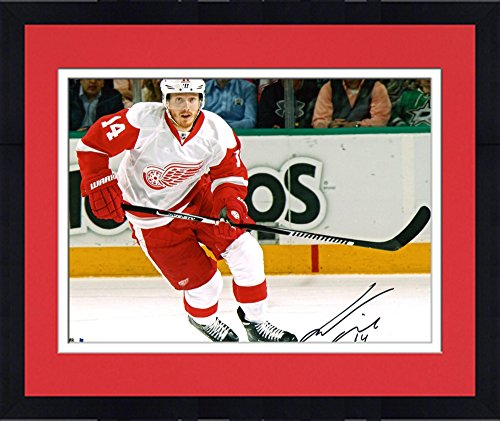 "Framed Gustav Nyquist Detroit Red Wings Autographed 8"" x 10"" White Jersey Skating Photograph - Fanatics Authentic Certified"
