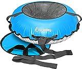 Heavy Duty Snow Tube & 50' Cover   Snow Saucer   Inflatable Sledding Tube (Blue)
