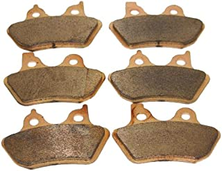 Foreverun Motor Front and Rear Sintered Brake Pads for Harley Davidson Touring Flhtcu-i Electra Glide Ultra Classic 2000 2001 2002 2003 2004 2005 2006 2007