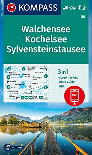 KOMPASS Wanderkarte Walchensee, Kochelsee, Sylvensteinstausee: 3in1 Wanderkarte 1:25000 mit Aktiv Guide inklusive Karte zur offline Verwendung in der ... Langlaufen. (KOMPASS-Wanderkarten, Band 6)
