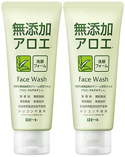 ロゼット 無添加アロエ洗顔フォーム AZ (140g×2個パック) 洗顔料 敏感肌 アロエエキス (100%植物由来洗浄成分)