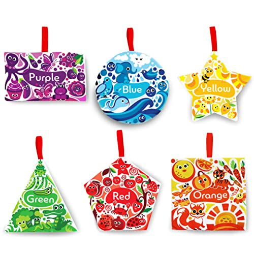 Colorful Graphic Crinkly Shapes, Baby Toys, Crinkle Sensory Toy, Car Seat Toys, Learning Toys, Stroller Toys, Ages 3 Months +