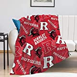 Rutgers Fleece Blanket, University Warm Ultra-Soft Throw Blanket, Fashion Home Decoration Blanket 40'×50'