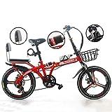 LYTLD Tragbares Klapprad, Citybike, Faltbares Fahrrad-Stoßdämpfer für Erwachsene Männer und Frauen Student Young Bike