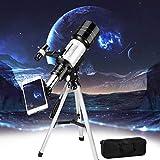 TTLIFE Telescopio HD de 70 mm, astronómico portátil para niños, Adultos, telescopio Refractor para astronomía, observación de la Luna, pájaros, paisajes de la Ciudad y Animales Salvajes