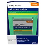 Simply Right Nicotine Patch Step 1 21 Ct, 2