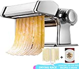 Manual de la máquina para pasta, estante para regalo y eBook de recetas de pasta, máquina para hacer pasta Acero inoxidable Pasta fresca Roller Cortador de máquina con abrazadera para espagueti Pasta