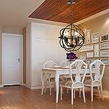 Iglobalbuy Pendelleuchte Retro Metall Industrieller Stil Kronleuchter moderne Kugel Hängeleuchte mit 5 Leuchten für Haus Dekro