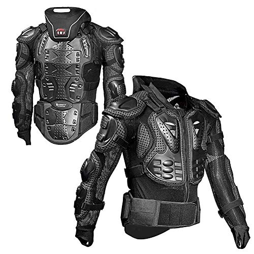 WJH Professional Body Armour, Motorcross Motorcycle Mountain Cycling Skating Snowboarding Spine Protector Guard Popular Jacket for Off-Road Riding, Outdoor Motorcycle,XL