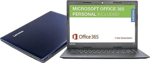 Lenovo Ideapad 14-inch Premium Performance Laptop (2017), Intel Dual-Core Processor up to 2.48 GHz, 2GB RAM, 32GB SSD, Webcam, HDMI, Windows 10 64 bit, Office 365 1-year ($70 Value)