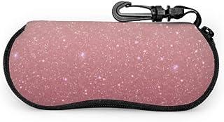 Brillenetui Brillenetui Mermaid Rose Gold Squeeze Top Sonnenbrillentasche tragbar Mikrofaser Tasche f/ür M/änner Frauen