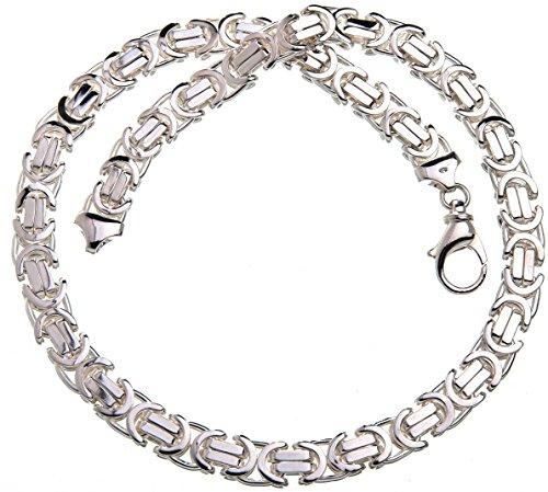 Flache Königskette 11mm - massiv 925 Silber, Länge 60cm