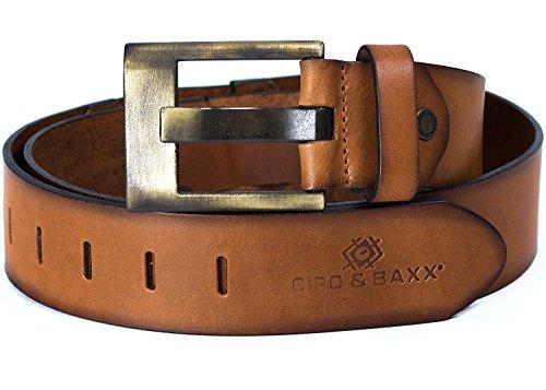 Cipo & Baxx Herren Gürtel C-2163 taba 95cm x 5cm