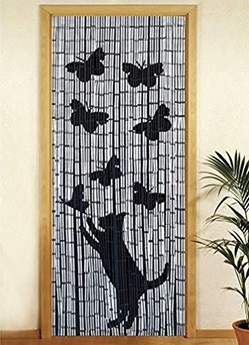 Wenko Tenda di bambú Gatta i Farfalla, richiudibile, bambù, Multicolore, 90 x 200 cm