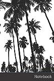 Notebook: Las Palmeras, Árboles, Silueta, Tropical Cuaderno / Diario / Libro de escritura / Notas - 6 x 9 pulgadas (15.24 x 22.86 cm), 150 páginas, superficie brillante.