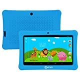 Mother's Day! Contixo Kid Safe 7' HD Tablet WiFi 8GB Bluetooth, Free Games, Kids-Place Parental Control W/Kid-Proof Case (Red) - Best Gift