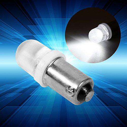 Qiilu 20Pcs T11 T4W BA9S H6W 1895 Convex 1LED Auto LED blanco tablero de luz Bombilla