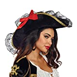 Dreamgirl Women's Pirate Hat (Woman's), Black, O/S