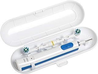 Funda de viaje para cepillo de dientes eléctrico Oral B & Philips Sonicare, color blanco