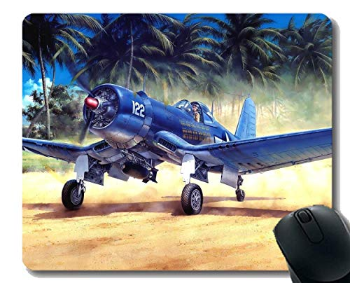 Mouse Pad with Stitched Edge,Vought F4U Corsair Warplane Laptop Mouse pad Gaming Mouse pad