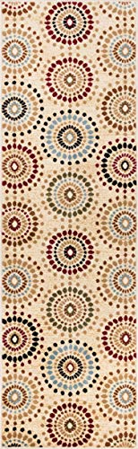 Well Woven Barclay Orchid Fields Ivory Modern Area Rug 2'3' X 7'3' Runner