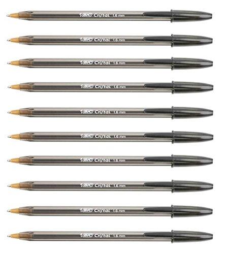 Penne a sfera ad inchiostro BIC 1,6mm, grande, nero 10penne