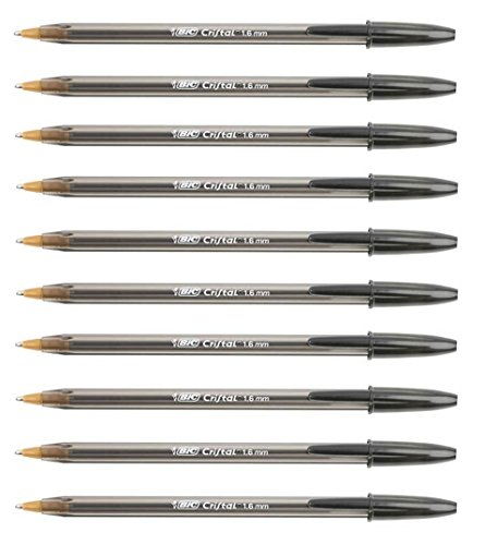 BIC Tintenschreiber, groß, Farbe: schwarz, dick -1,6mm, 10 Stifte