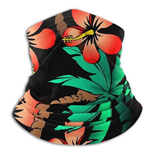 Mscara trmica trmica de palma tropical e hibisco para adultos y nios