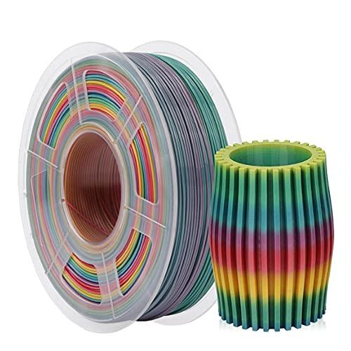 PETG Rainbow 3D Printer Filament, Dimensional Accuracy +/- 0.02 mm, 1 kg Spool, 1.75 mm, for FDM 3D Printers