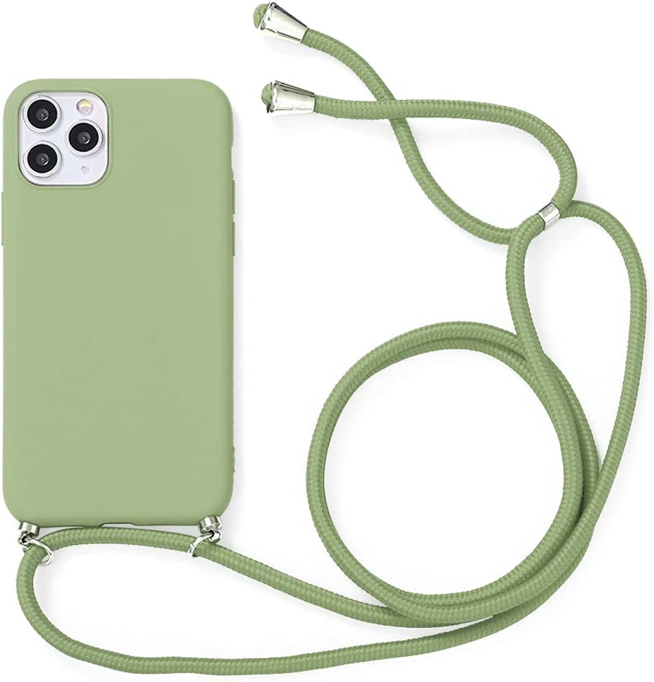 Yoedge Crossbody Case for Oppo F17, Neck Cord Phone Case with Adjustable Lanyard Strap, Soft TPU Silicone Shock-Proof Cover Compatible with Oppo F17 [6.44