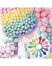"""Pastel ballonnen 100 stuks, 10 """"Macaron Candy gekleurde ballonnen 14 kleuren party ballon, lichte natuurlijke latex decoratie ballonnen, partijen leverancier voor verjaardagen, bruiloften, feesten, babyshowers."""