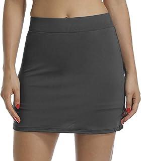 Sobrisah Women's Active Athletic Skort Lightweight Skirt Pockets Running Tennis Golf Workout